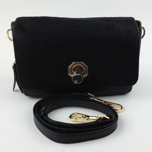 Louise et Cie Alis Small Leather and Hair Calf bag